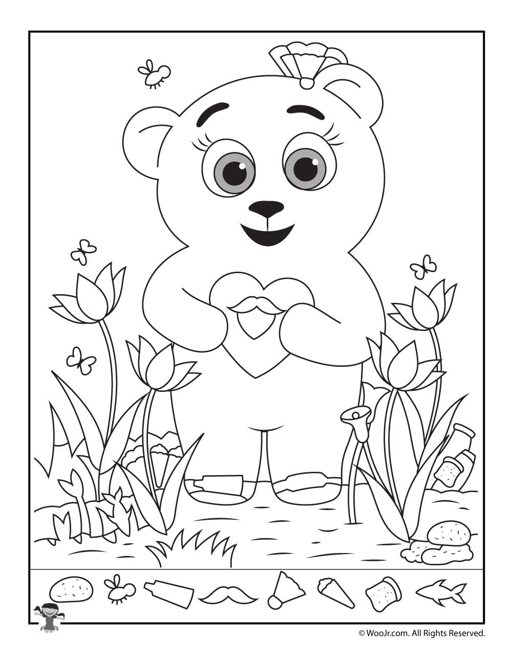 teddy bear hidden picture printable woo jr kids activities - Hidden Pictures For Kids
