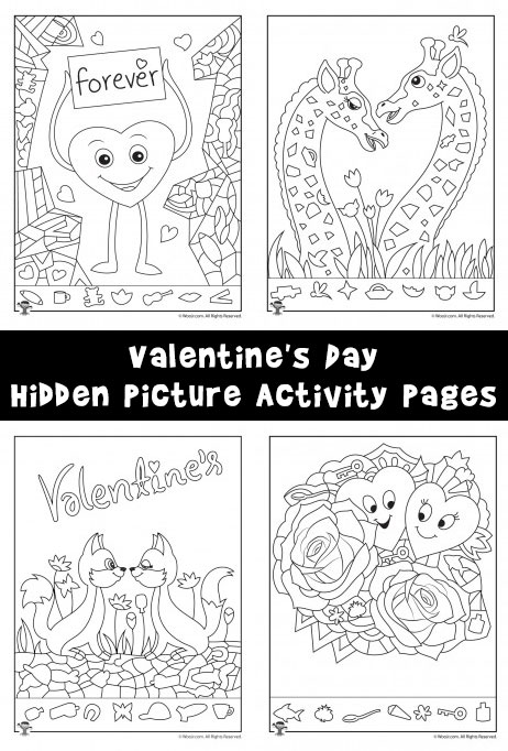 Hidden Picture Activity Pages for Valentine\'s Day - Woo! Jr. Kids ...