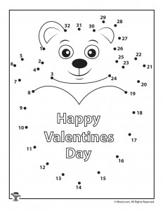 graphic regarding Valentine Puzzles Printable titled Printable Valentines Working day Dot in direction of Dots Puzzles Woo! Jr