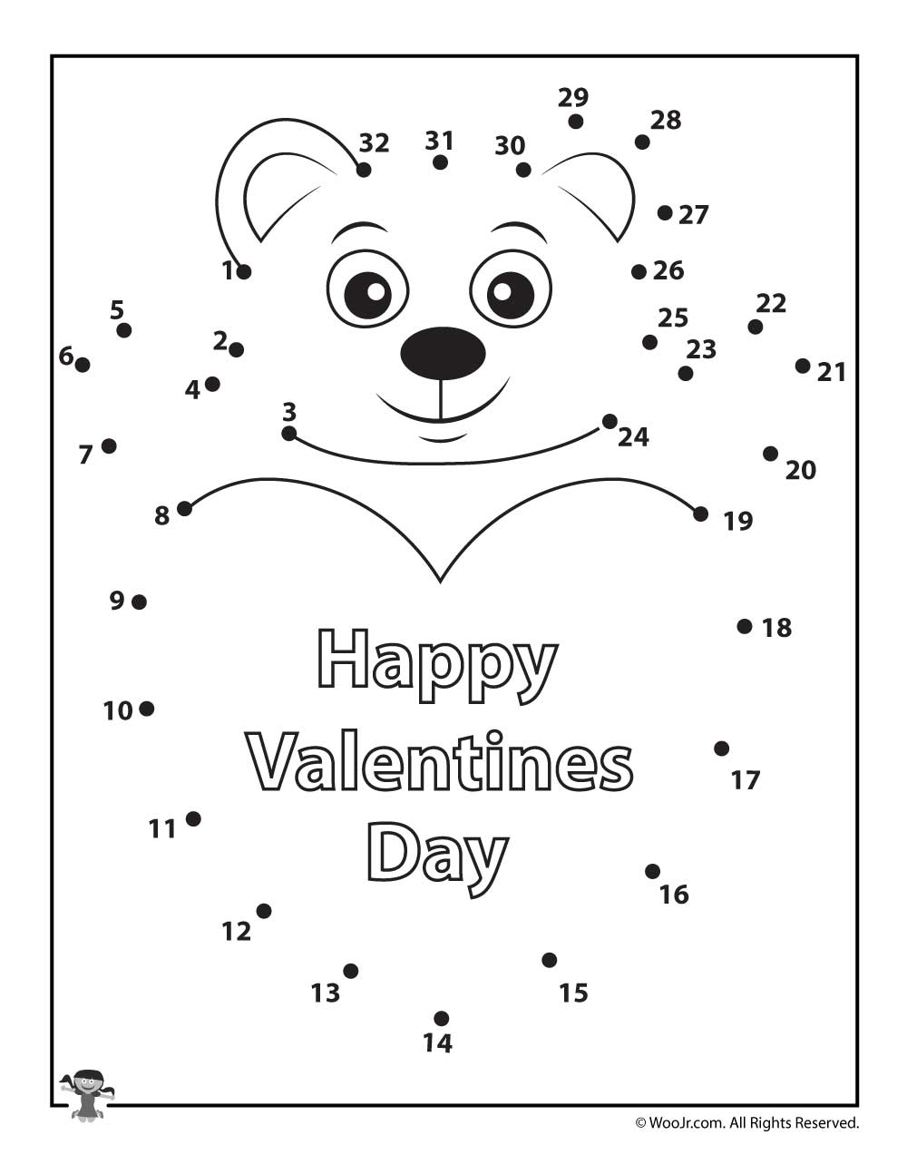 Valentine 39 s Day Dot to Dot Printable