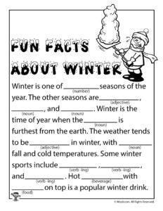 Fun Facts About Winter Ad Libs