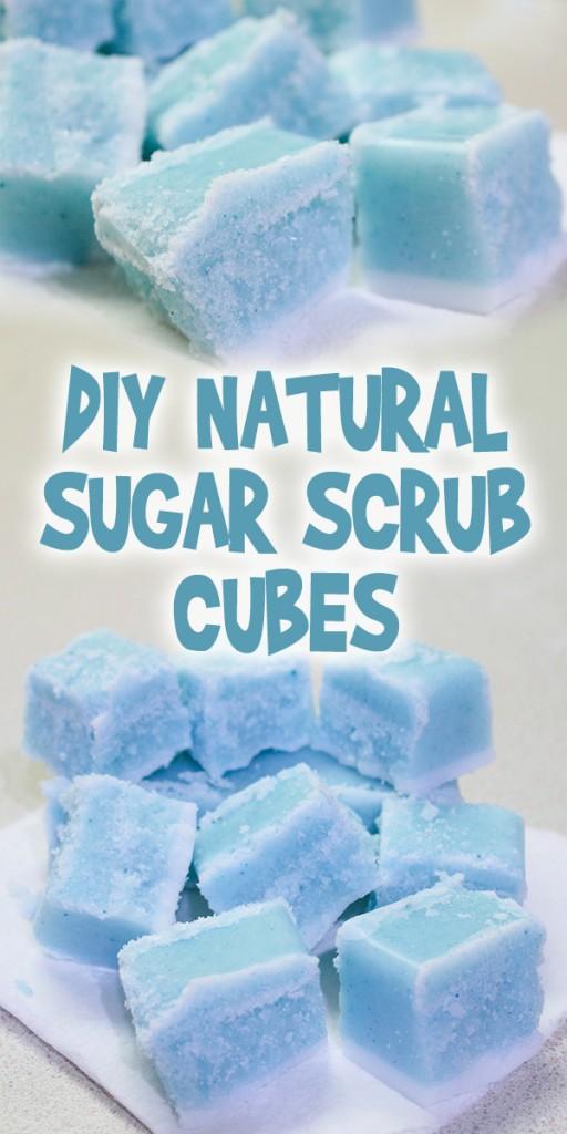 DIY Natural Sugar Scrub Cubes