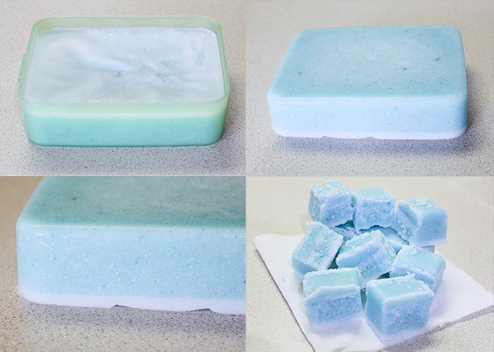DIY Natural Sugar Scrub Cubes 7