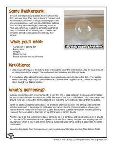 How to Make Hovering Bubbles Printable Instructions