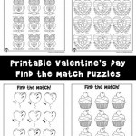 Valentine's Day Find the Difference / Match Activity Pages