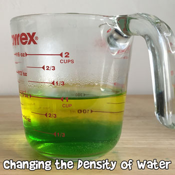 Changing the Density of Water