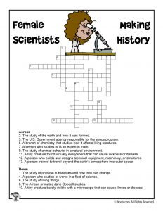 Female Scientists Crossword Puzzle