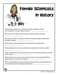 Female Scientists Reading Comprehension Quiz