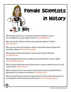 Female Scientists Reading Comprehension Quiz Answers
