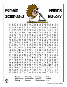 Female Scientists Word Search