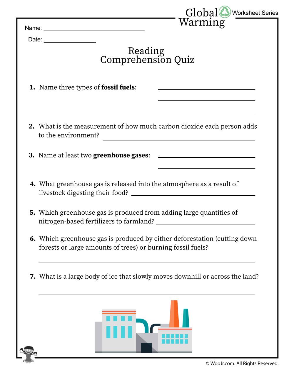 - Global Warming Reading Comprehension Quiz Woo! Jr. Kids Activities
