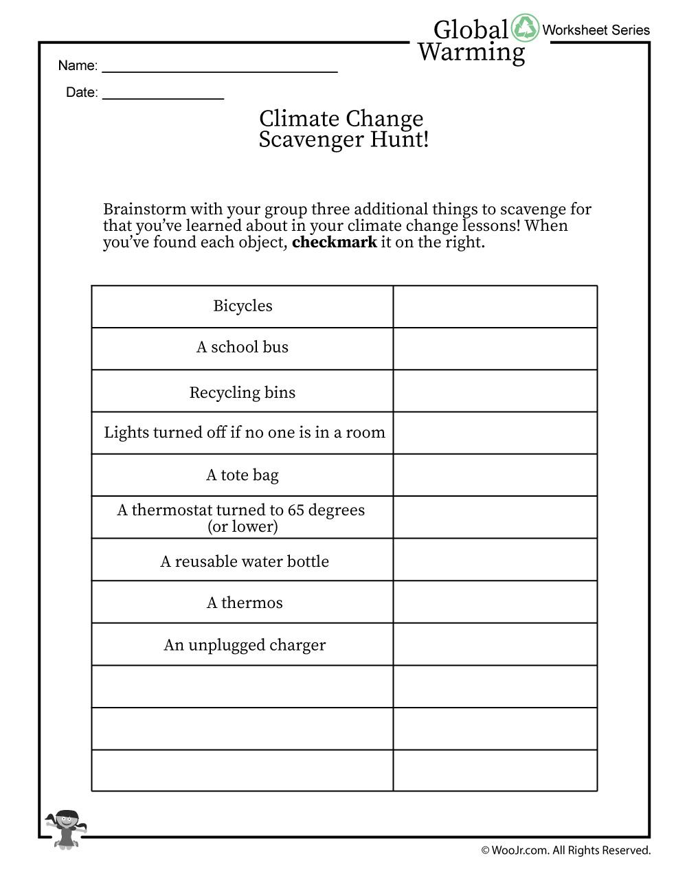 Global Warming Scavenger Hunt | Woo! Jr. Kids Activities
