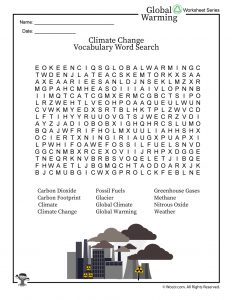 Global Warming / Climate Change Word Search