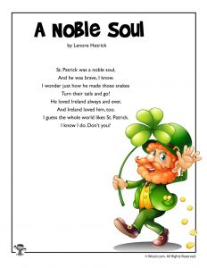 A Noble Soul St. Patrick's Day Poem