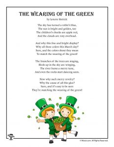 The Wearing of the Green Poetry for St. Patrick's Day