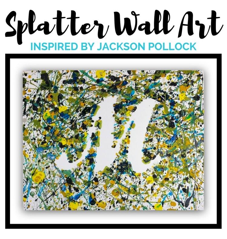 splatter wall art inspired by jackson pollock woo jr kids activities. Black Bedroom Furniture Sets. Home Design Ideas