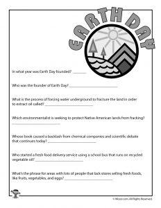 Earth Day Printable Quiz