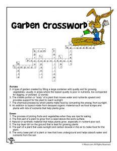 Garden Curriculum Crossword Answers