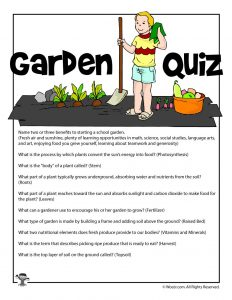 Garden Curriculum Quiz Answer Key