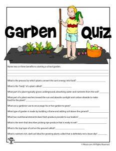 Garden Curriculum Quiz
