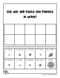 Solar System Sequence Worksheet