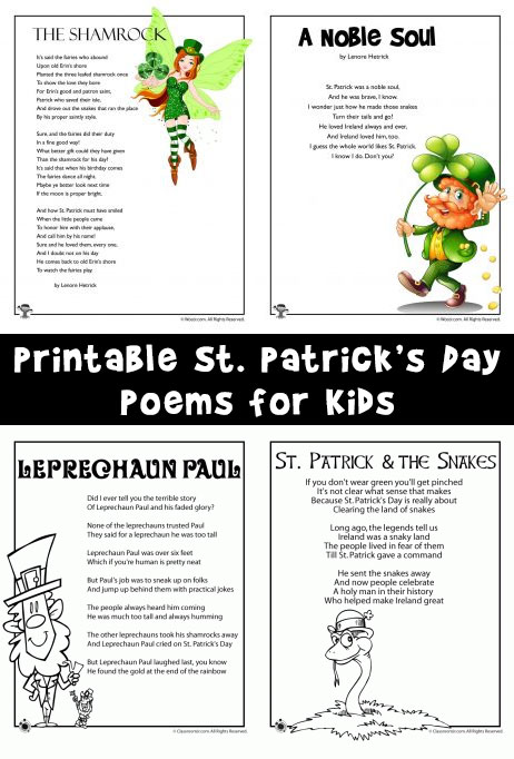 picture about Printable Leprechaun Story known as St. Patricks Working day Small children Poems Woo! Jr. Small children Pursuits