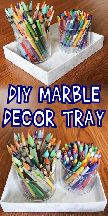 DIY Marble Decor Tray Tutorial