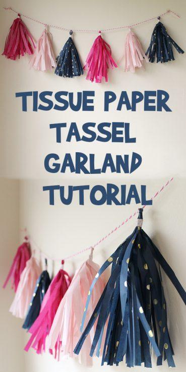 Tissue Paper Tassel Garland Tutorial