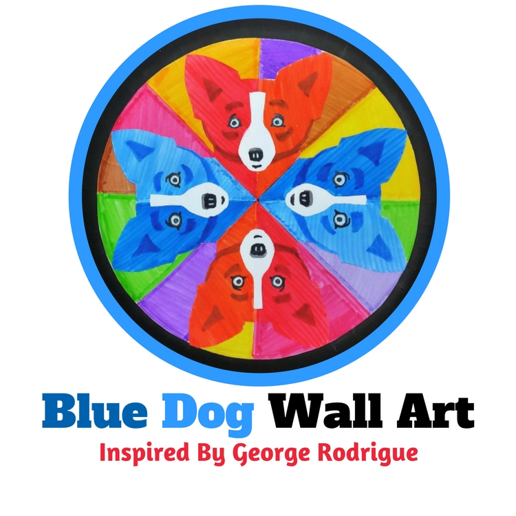 Blue Dog Art Project for Kids