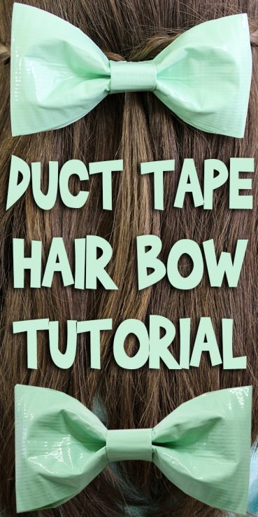 Duct Tape Hair Bow Tutorial