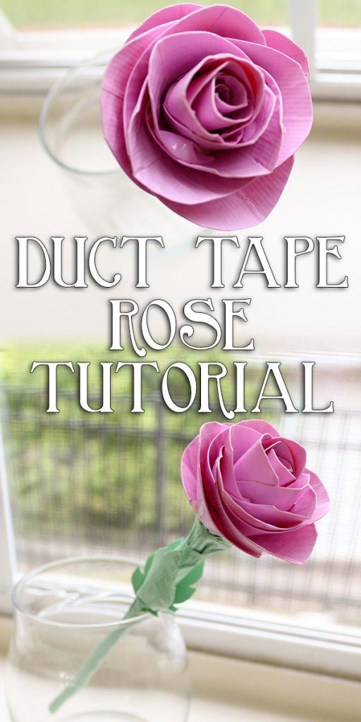 Duct Tape Rose Tutorial