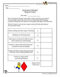 Inclusion Hunter Report Card