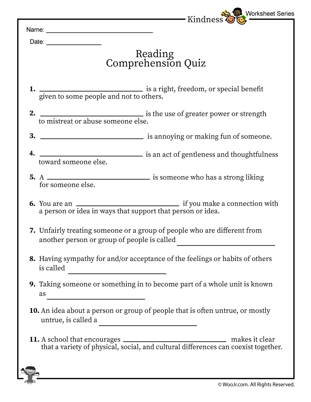 - Diversity In The Classroom Reading Comprehension Quiz Woo! Jr