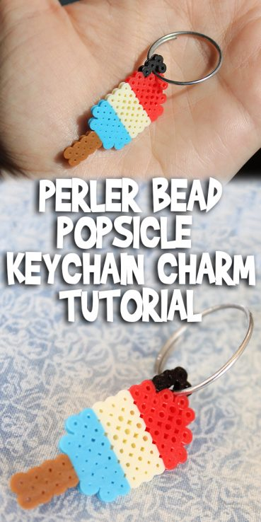 Perler Bead Popsicle Keychain Charm Tutorial