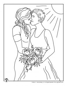 lesbian wedding coloring pages | LGBT Trailblazers: A Pride Month Curriculum for Kids | Woo ...