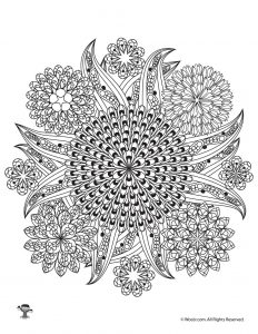 Flower Mandalas Adult Coloring Pages
