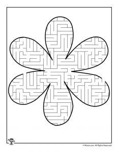 6 Flower Mazes