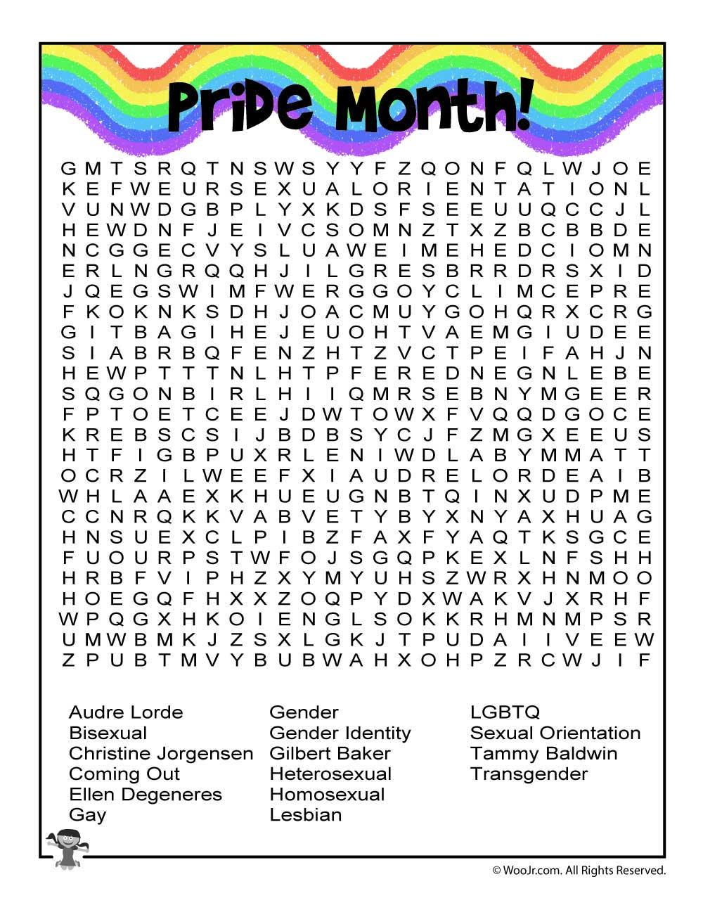 pride month word search worksheet woo jr kids activities