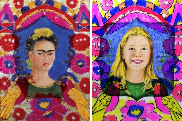 Frida Kahlo Inspired Self Portrait For Kids Woo Jr