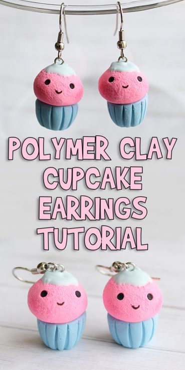 Polymer Clay Cupcake Earrings Tutorial