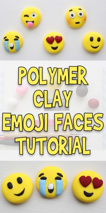 Polymer Clay Emoji Faces Tutorial