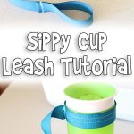 Sippy Cup Leash Tutorial | Easy Sewing Project