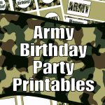 Army Birthday Party Printables
