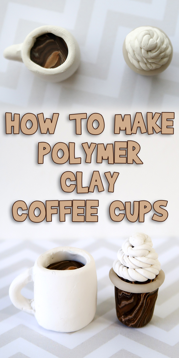 How To Make Polymer Clay Coffee Cups Woo Jr Kids Activities