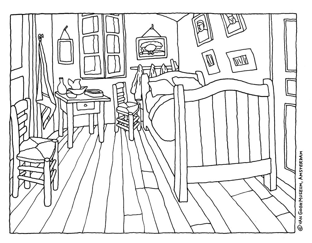 The Coloring Book Page For This Project Can Be Downloaded Directly From Van Gogh Museum Here