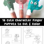 Printable Finger Puppets to Cut and Color
