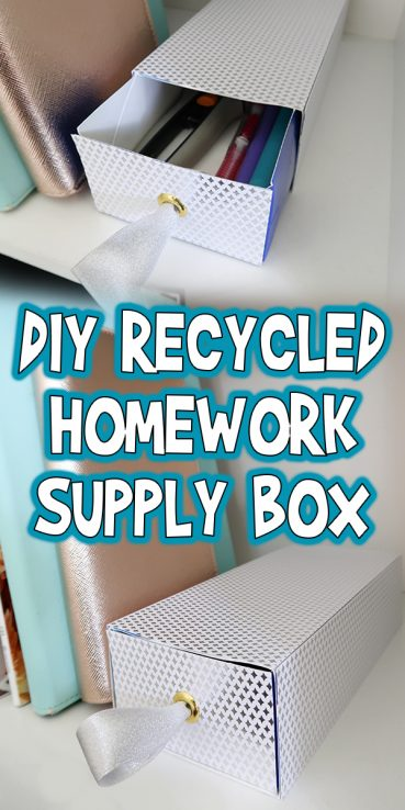 DIY Recycled Homework Supply Box