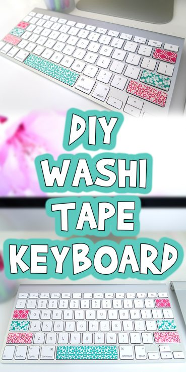DIY Washi Tape Keyboard