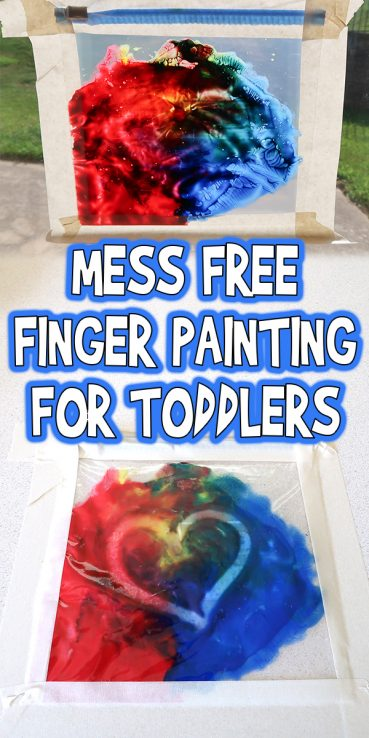 Mess Free Finger Painting for Toddlers & Preschoolers