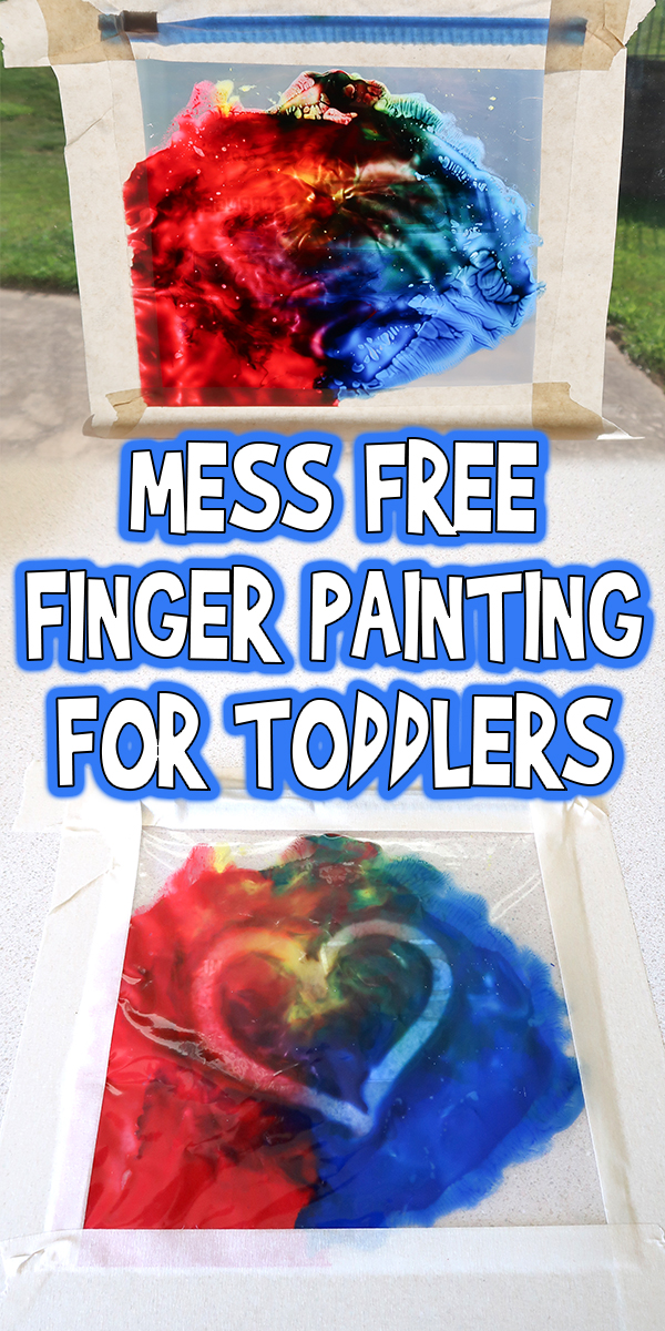 Mess Free Finger Painting for Toddlers
